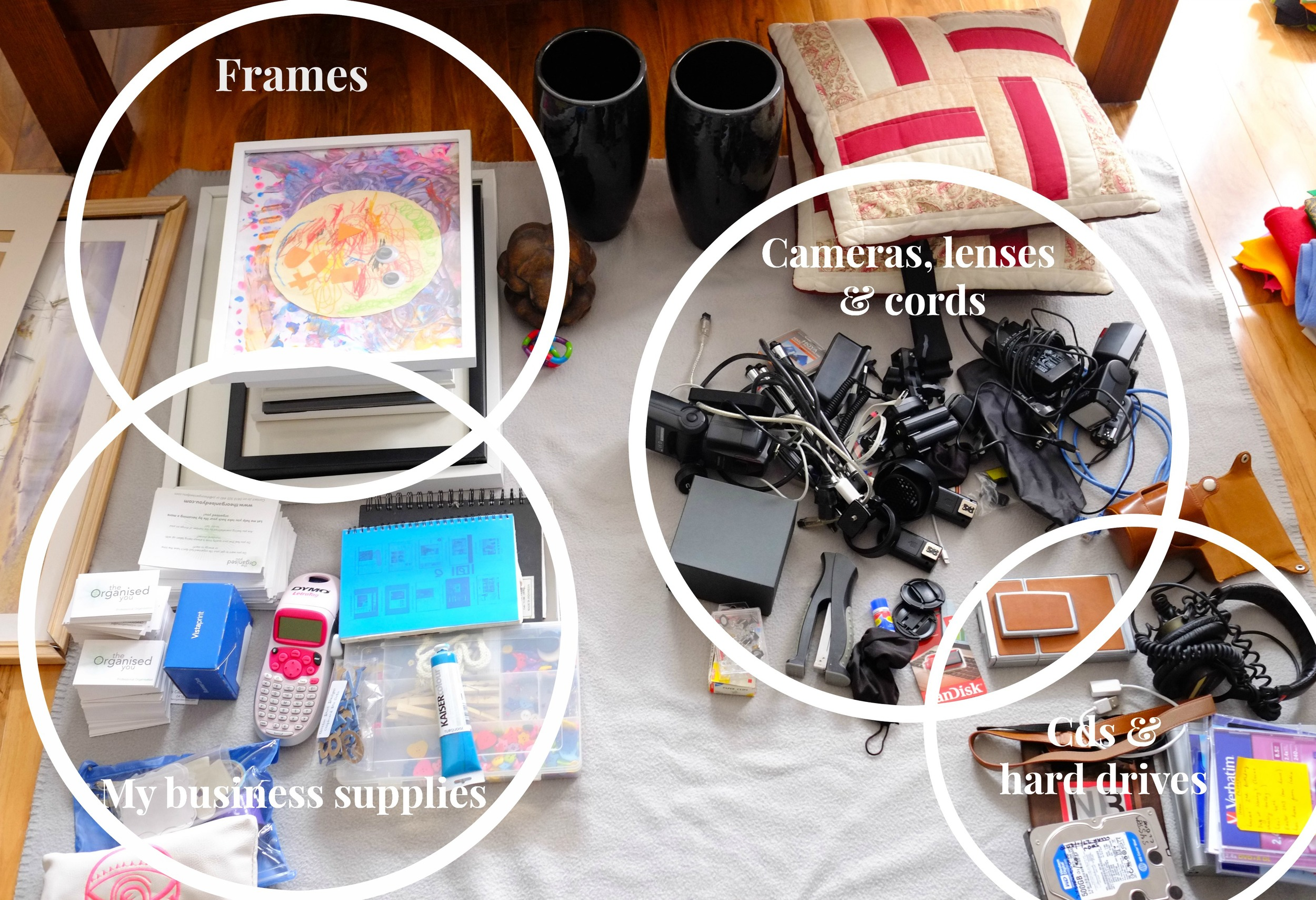 home office supplies in categories