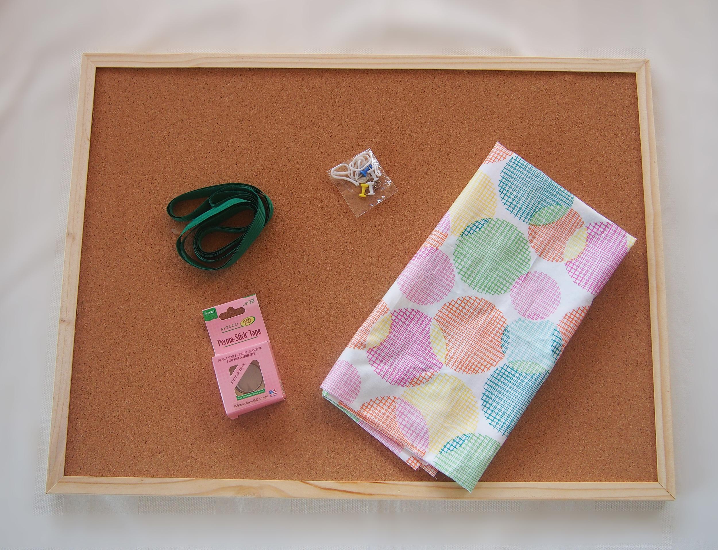 materials to cover cork board