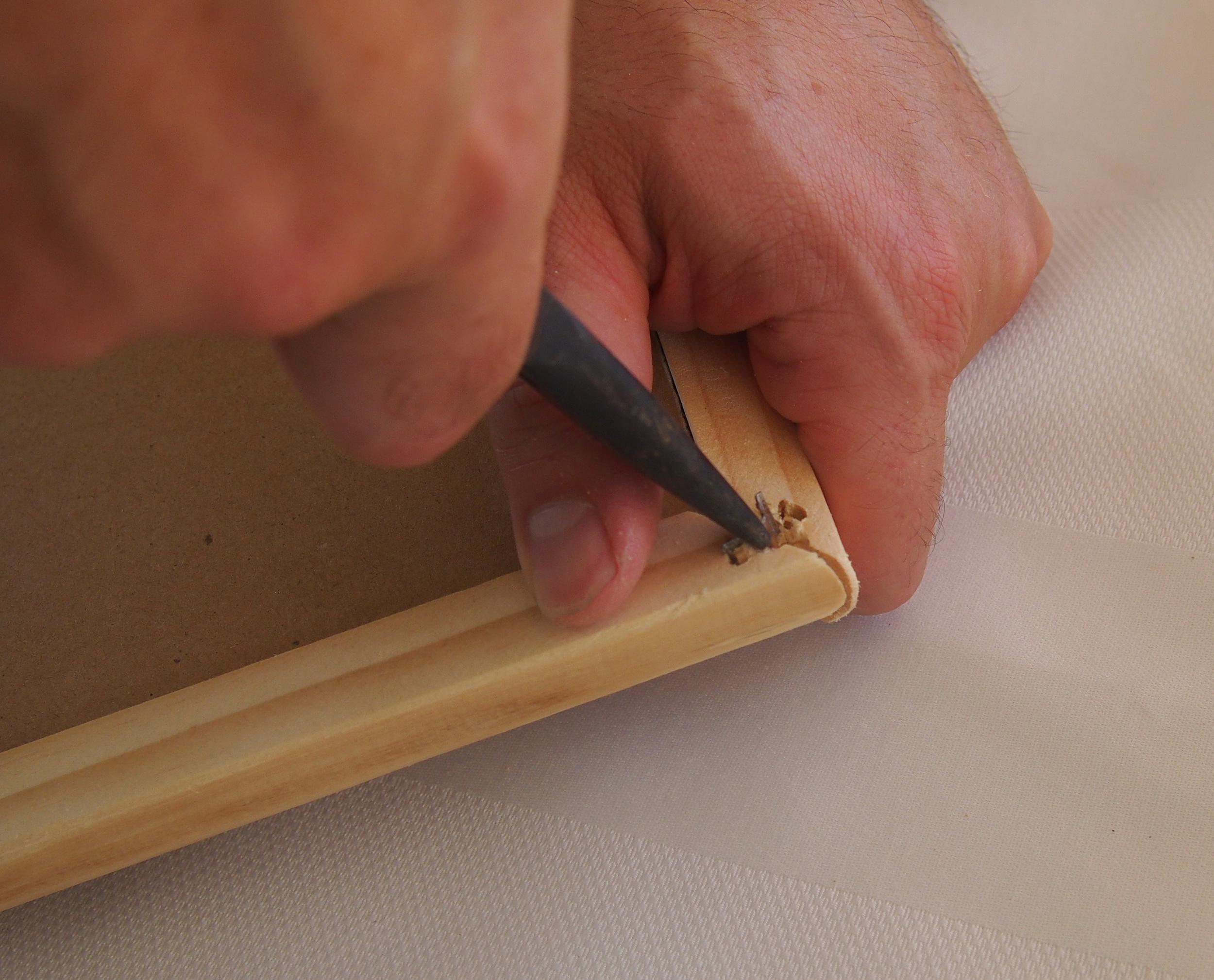 removing corner staple