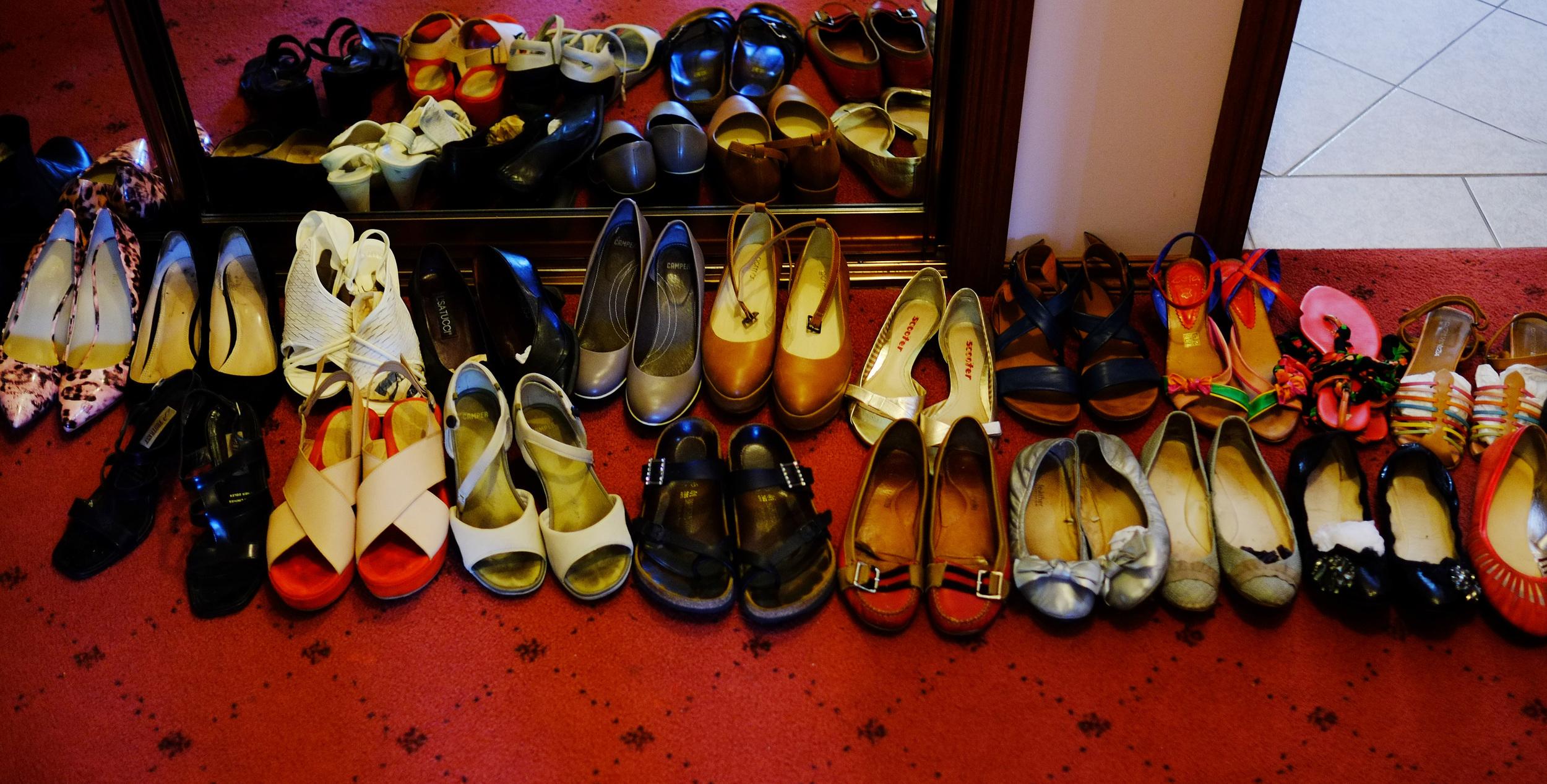 organising shoes
