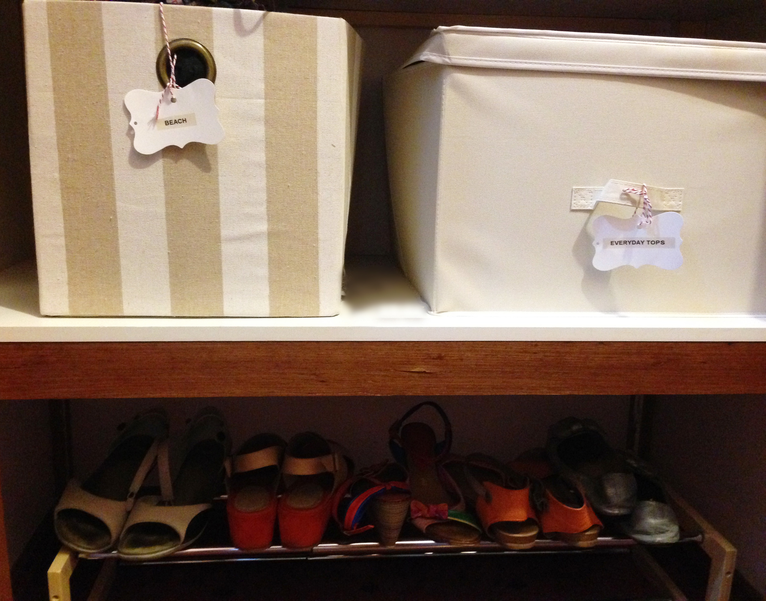 organised shoe rack