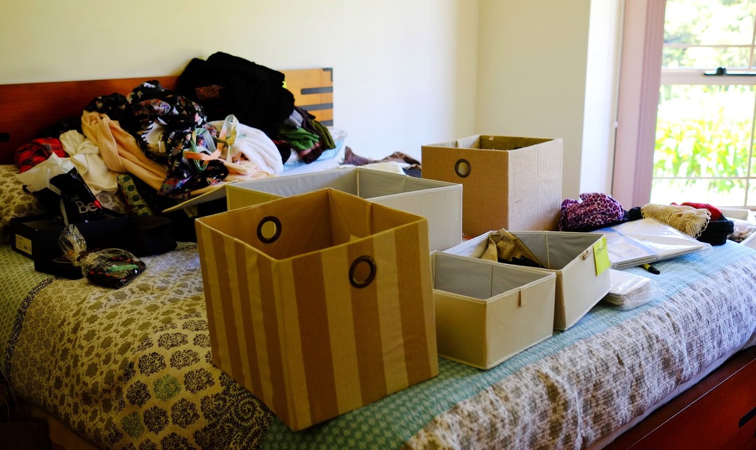 sorting and decluttering