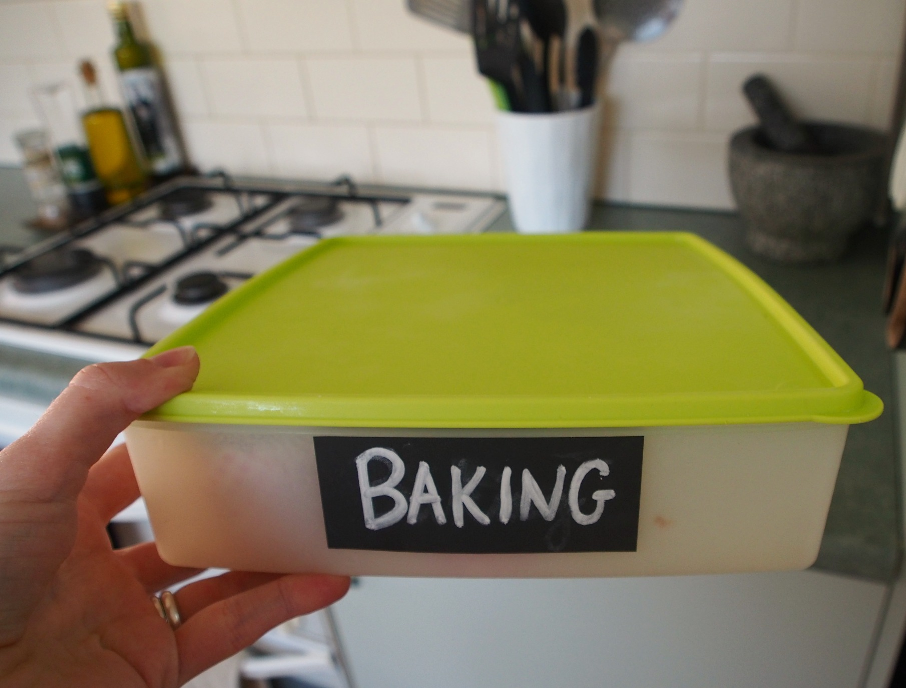 storage for baked goods in freezer