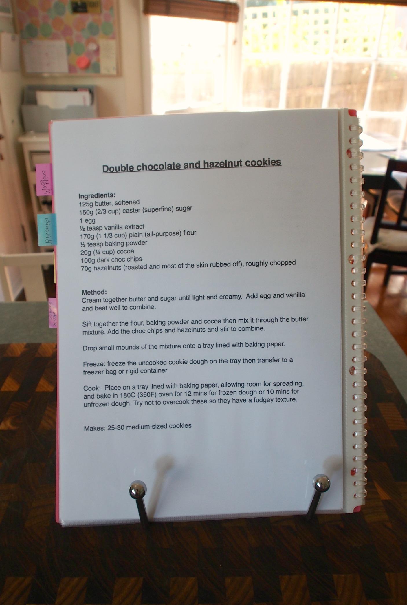 baking display folder