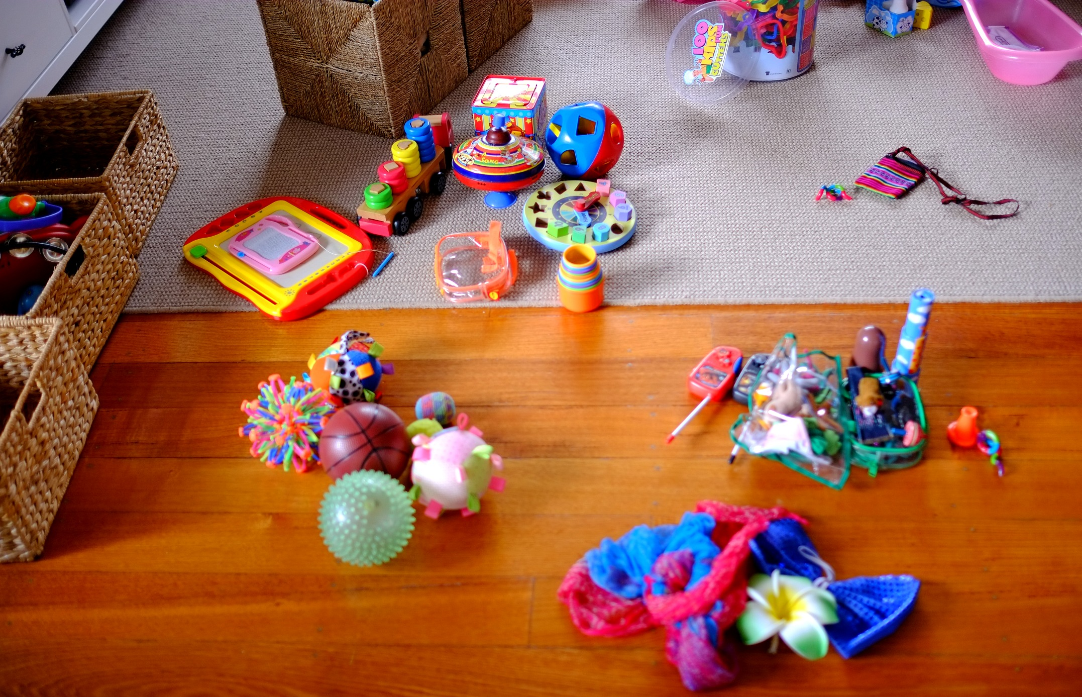 sorting toys into categories