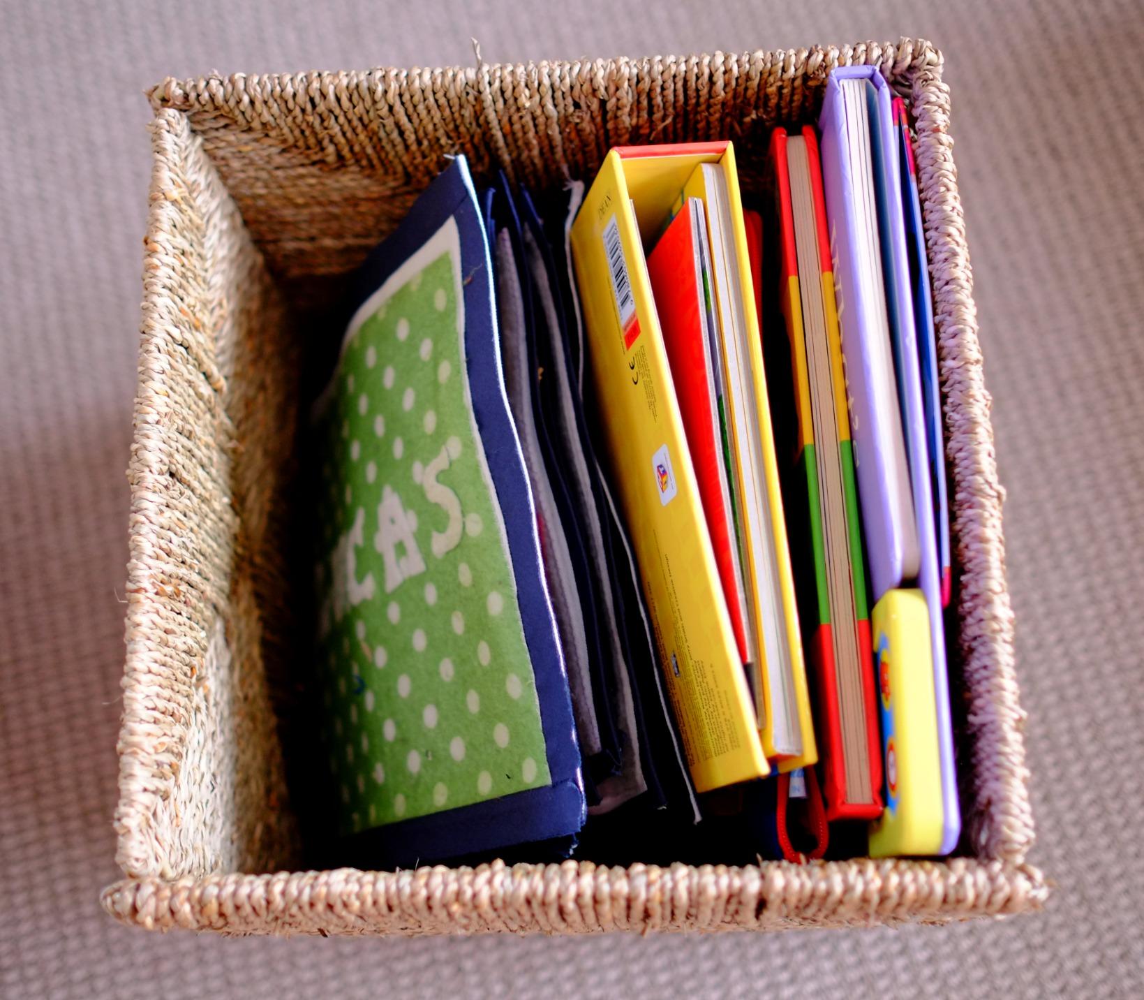 tall book basket