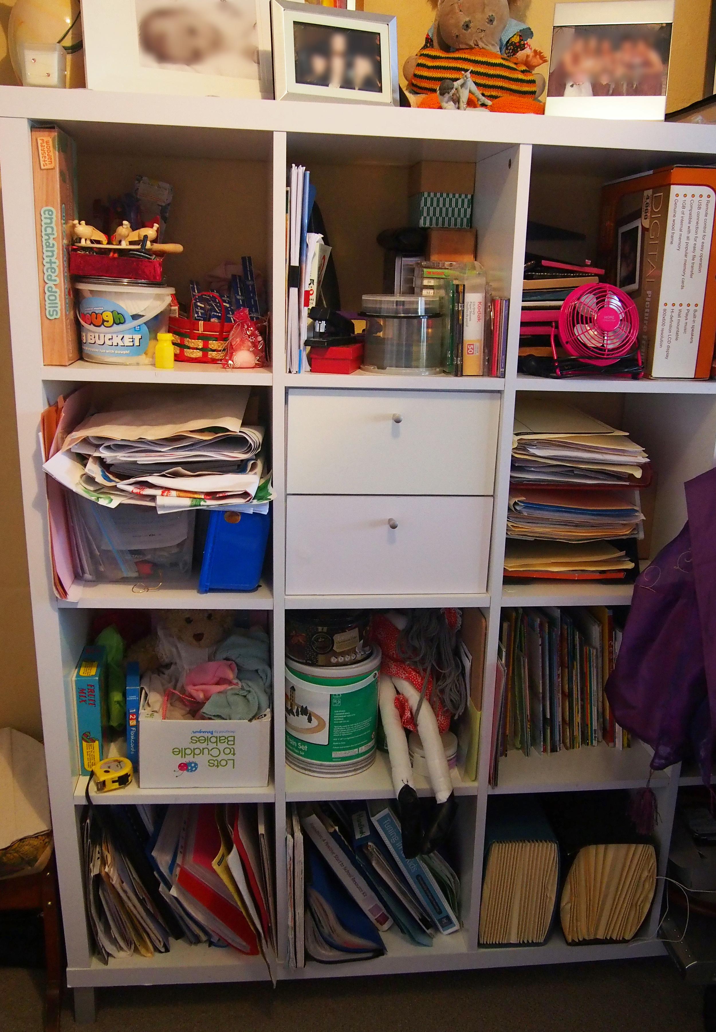 decluttering home office