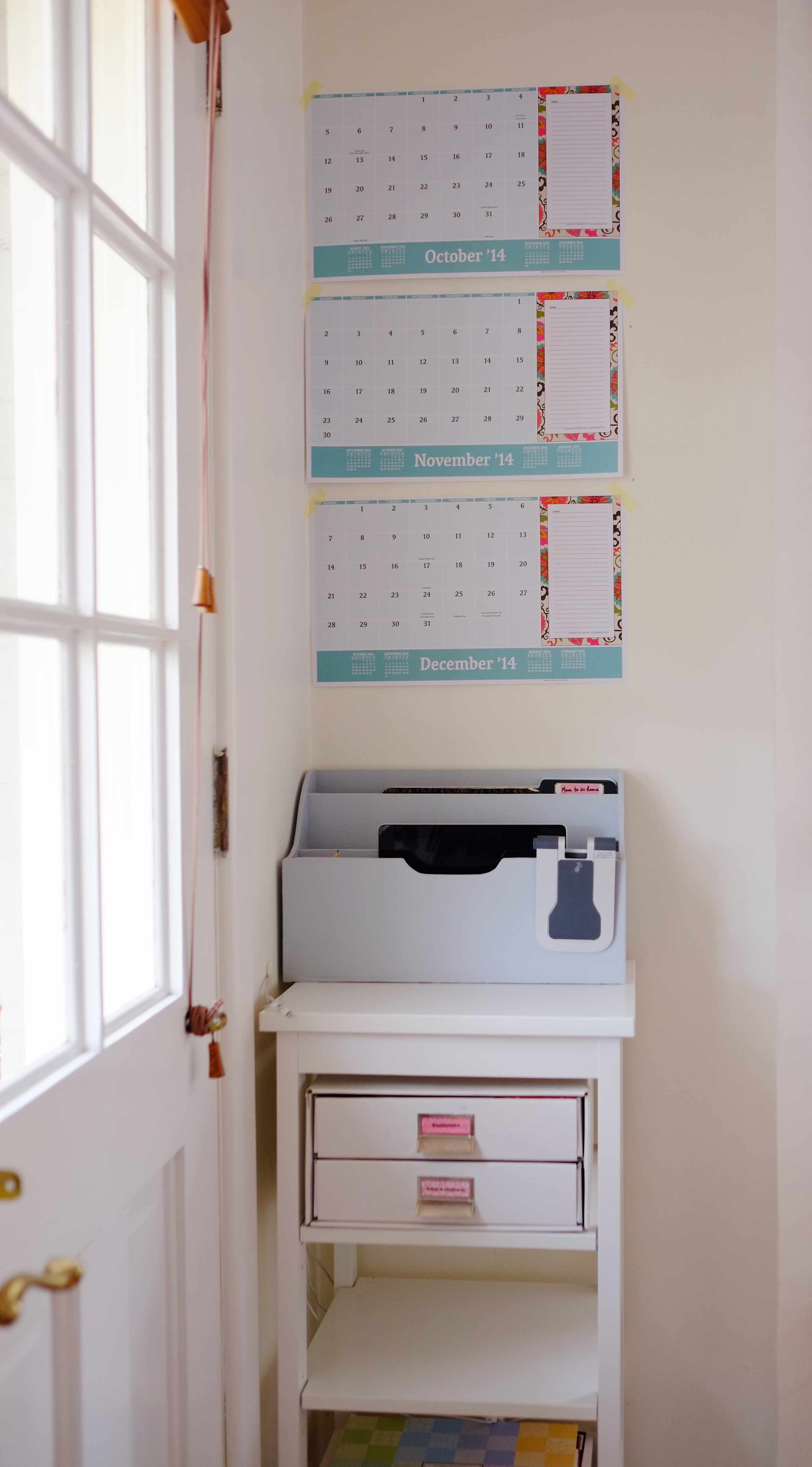 tracking cleaning on calendar