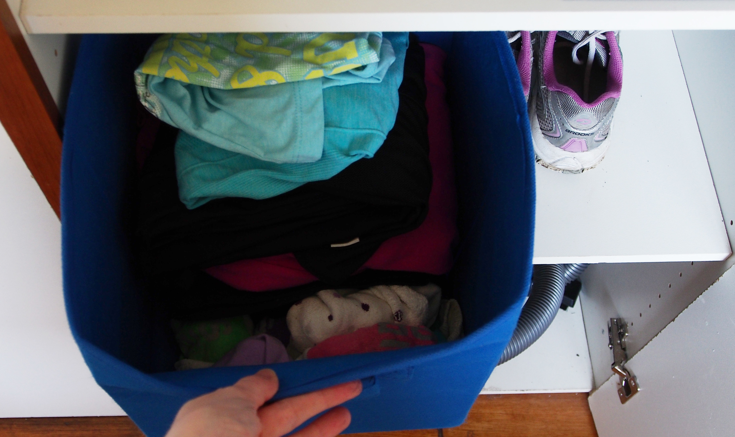 organised gym clothes
