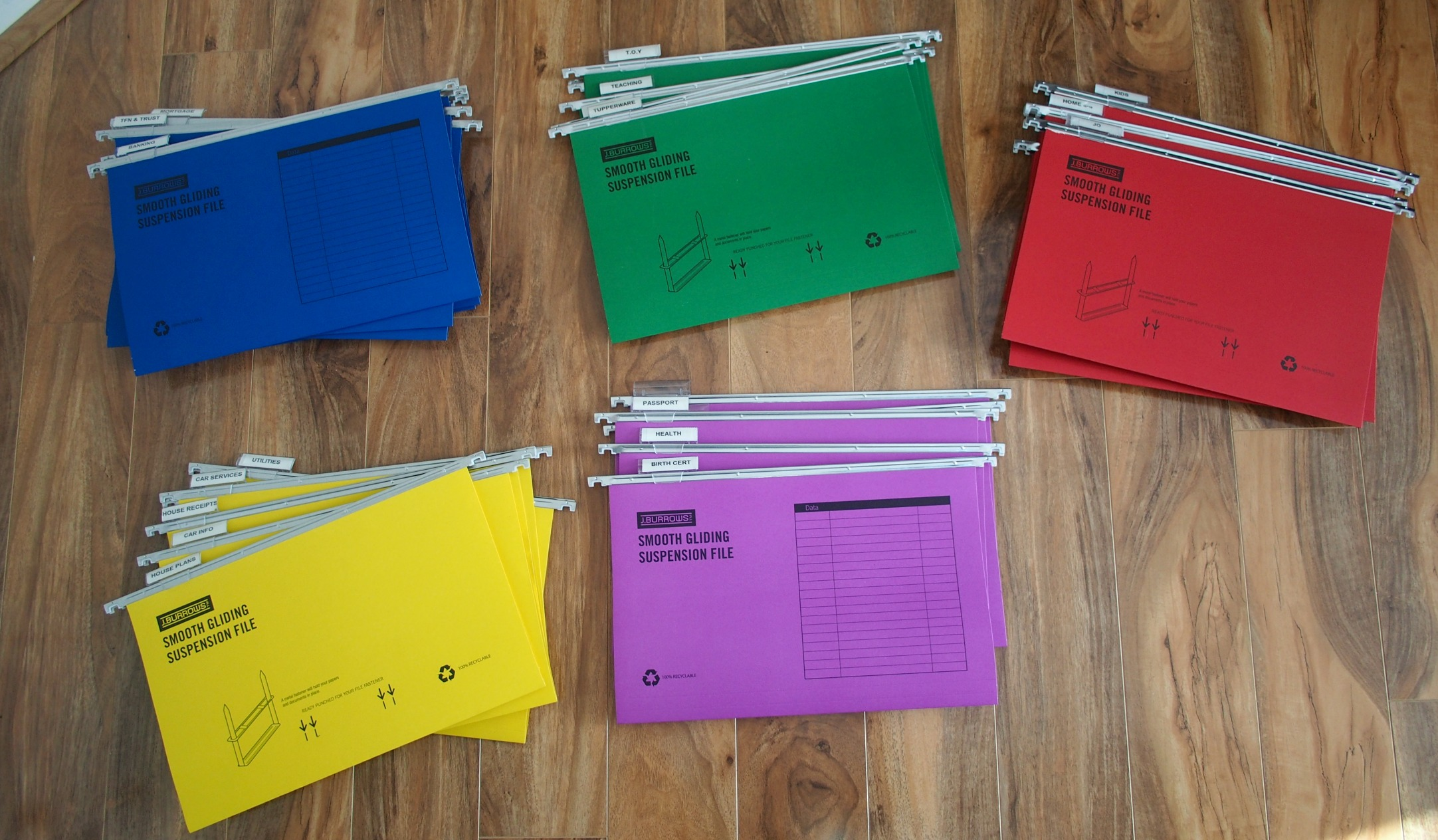 files for holding organised paperwork