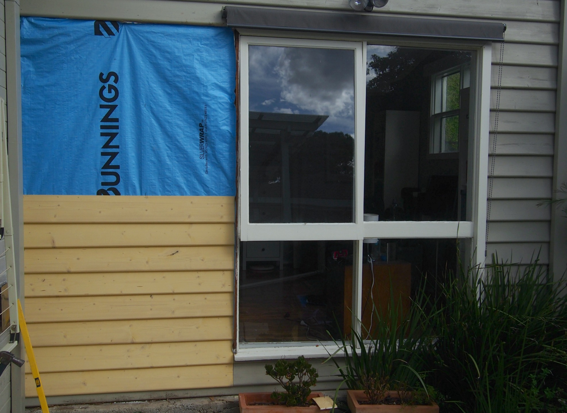 boarding up exterior