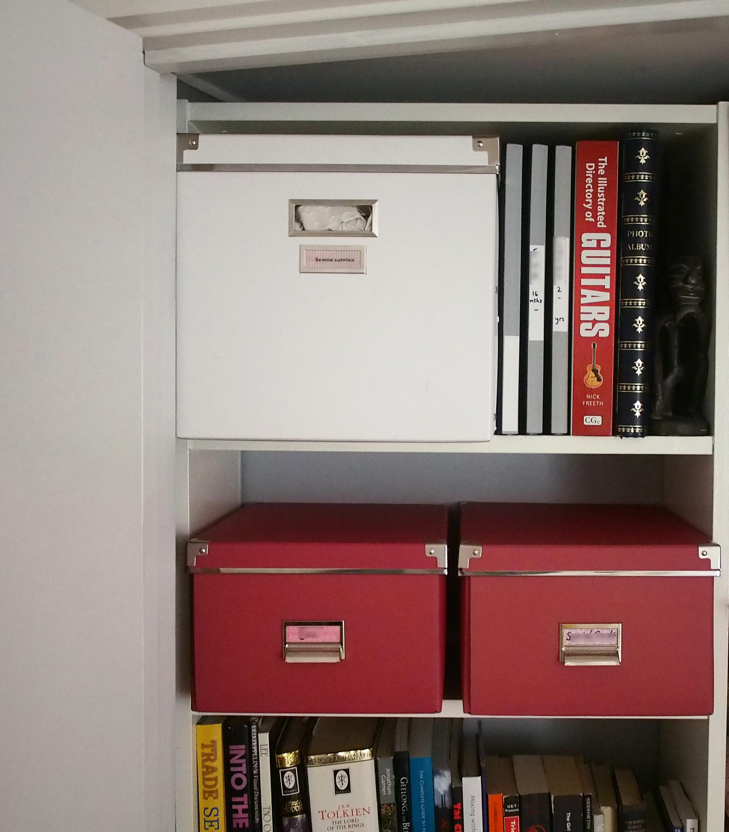 organising storage cupboard