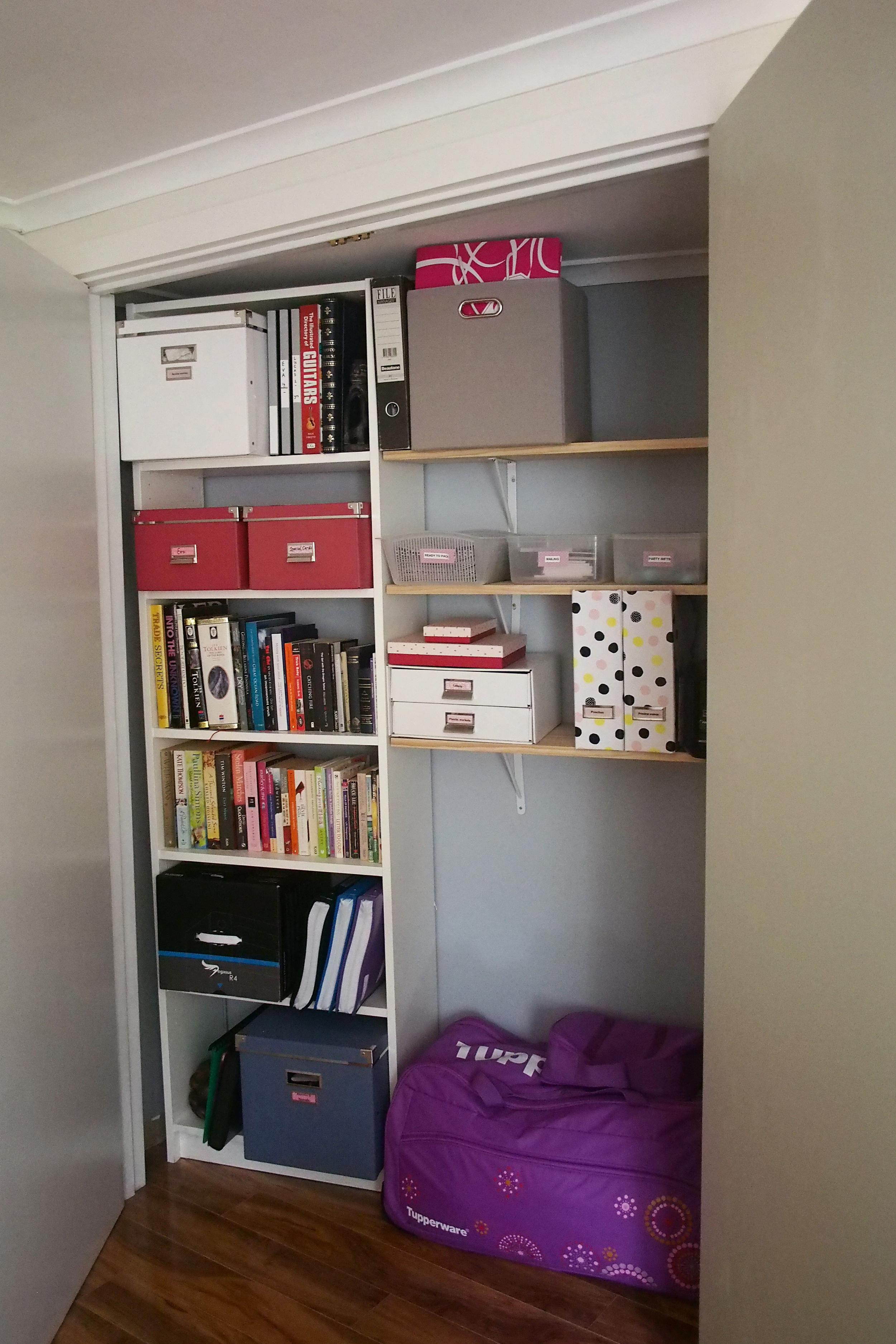 organised storage cupboard