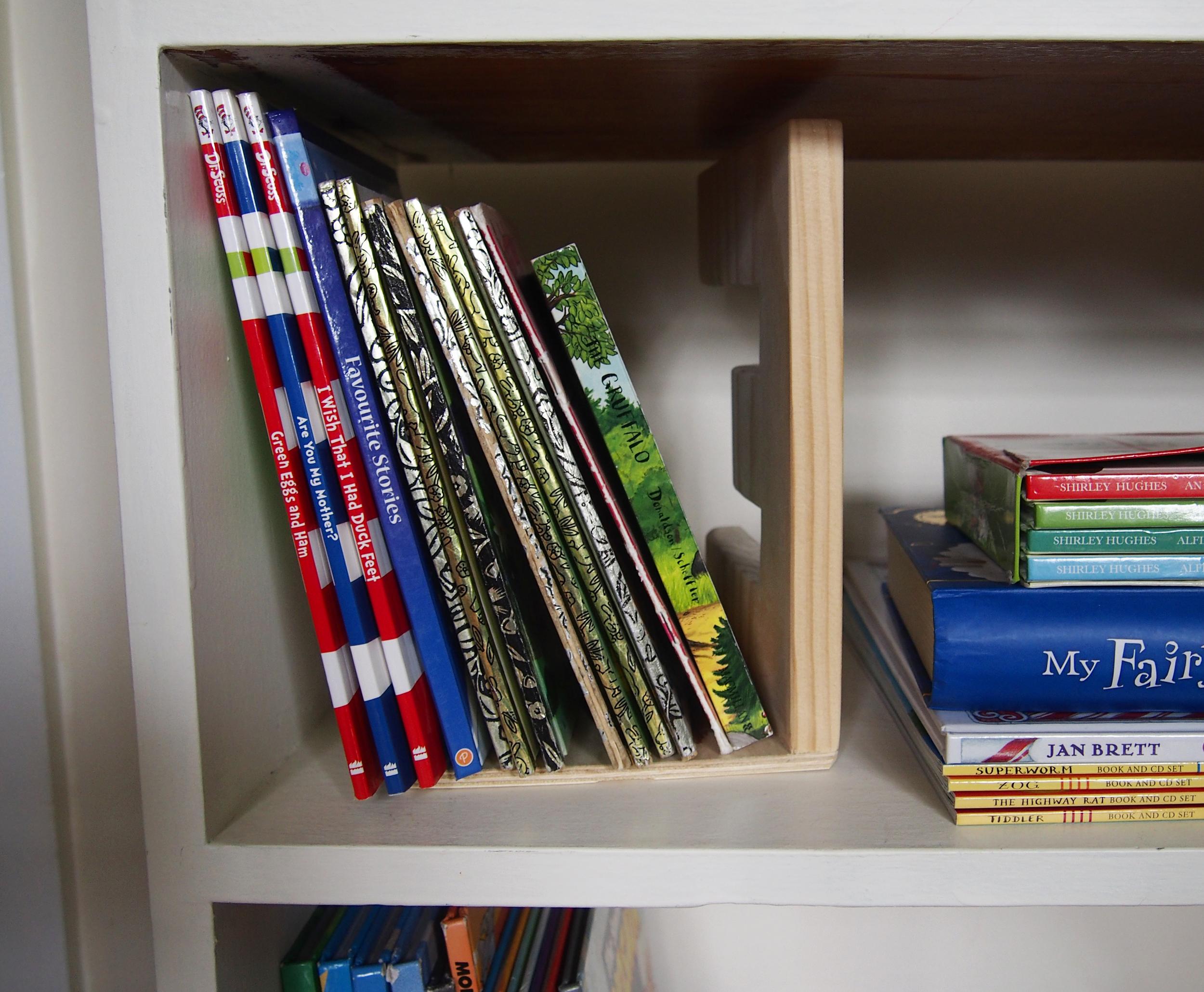 books organised on bookshelf