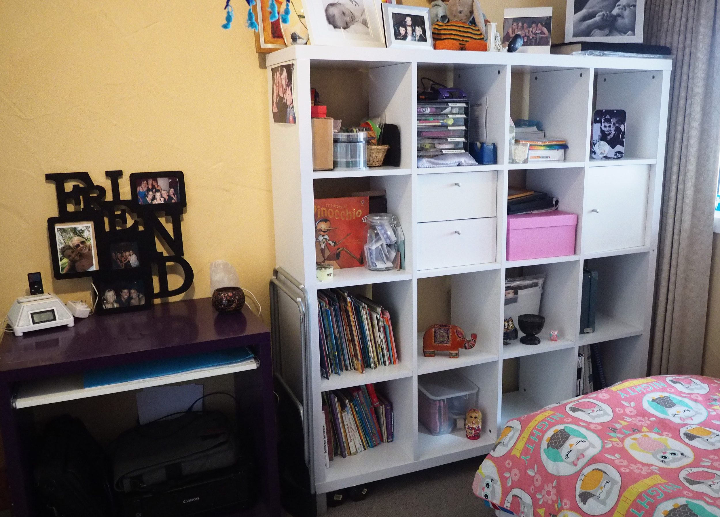 organised and decluttered home office