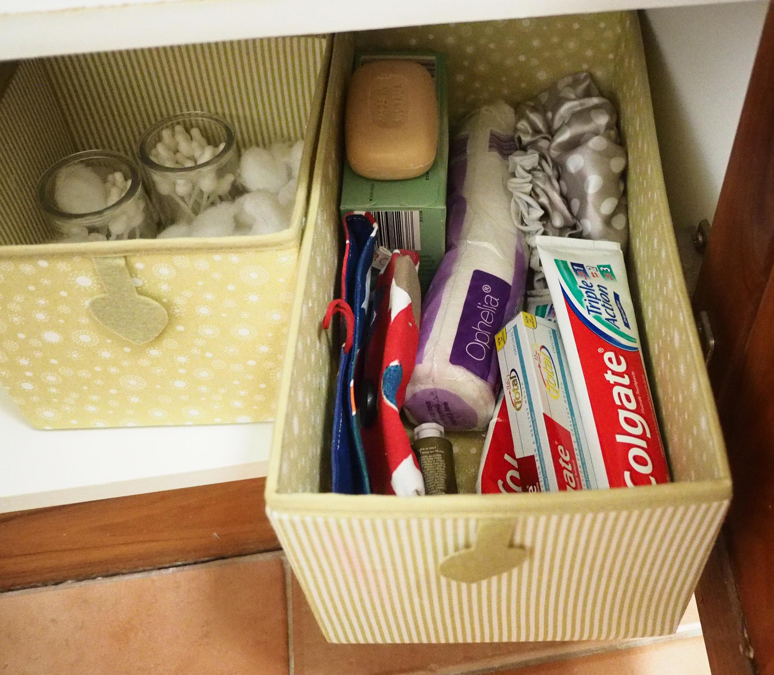 organised bathroom vanity