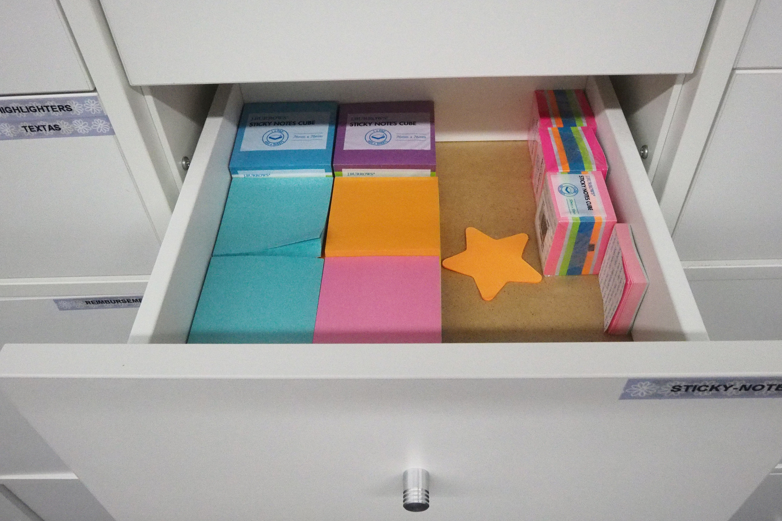 office supplies organised