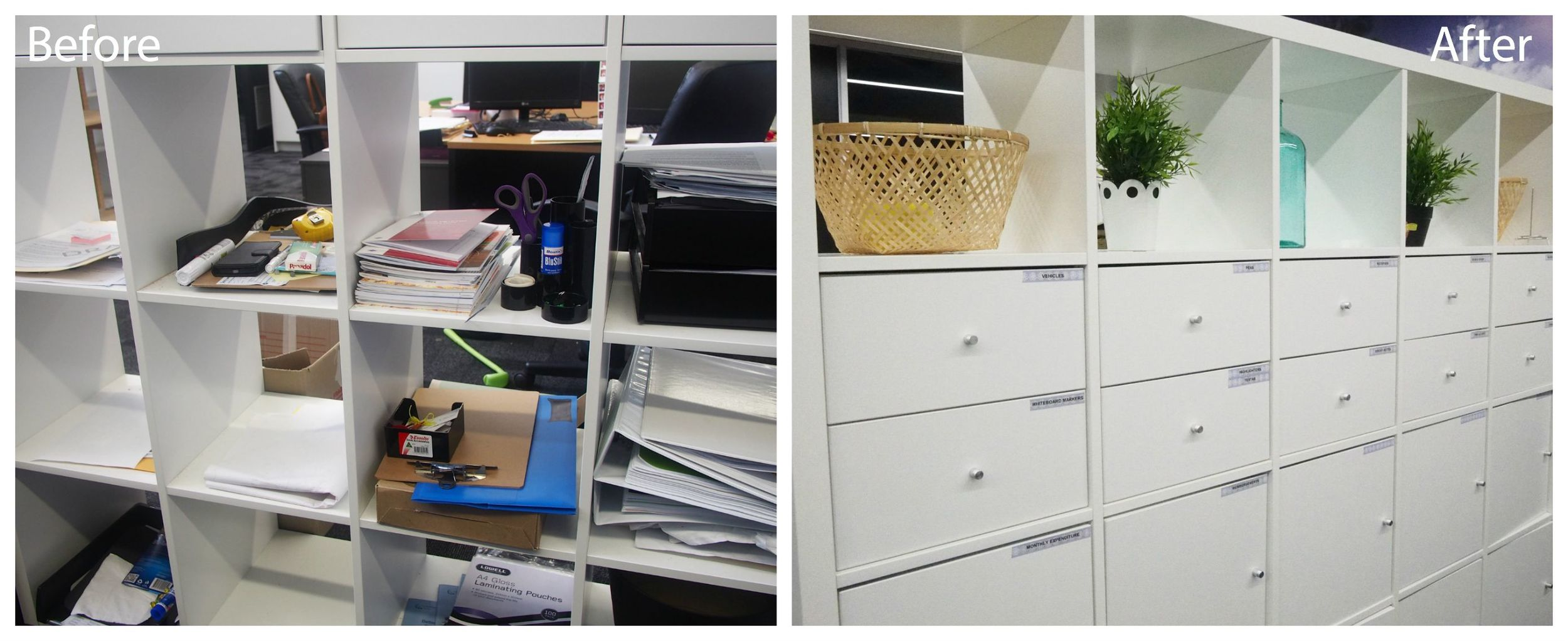 work office organisation makeover