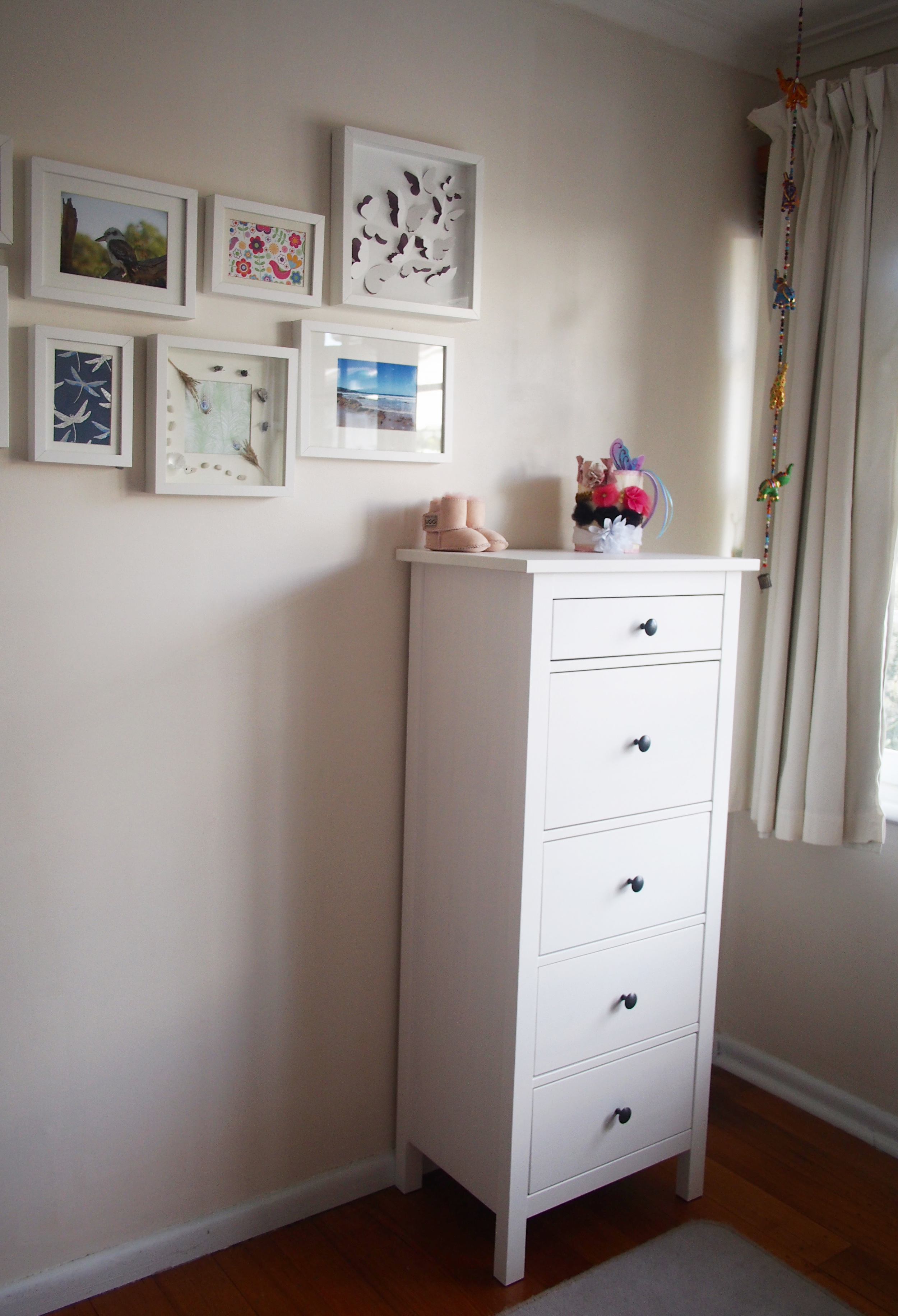 chest of drawers in child's bedroom