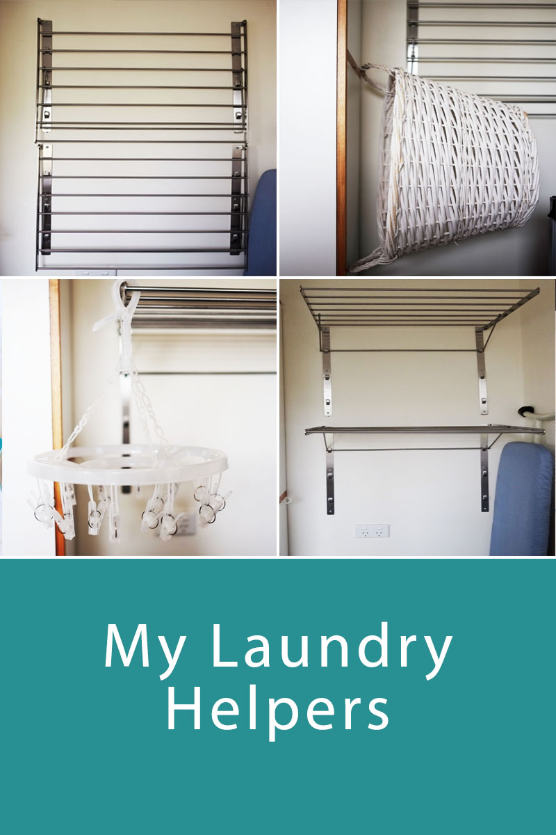 My Laundry Helpers - laundry is a never-ending chore and one that really can't be avoided, no matter how hard we try! This post is an in-depth look at the tools I use in my laundry to help get the laundry done faster so you have more time to do things you enjoy!