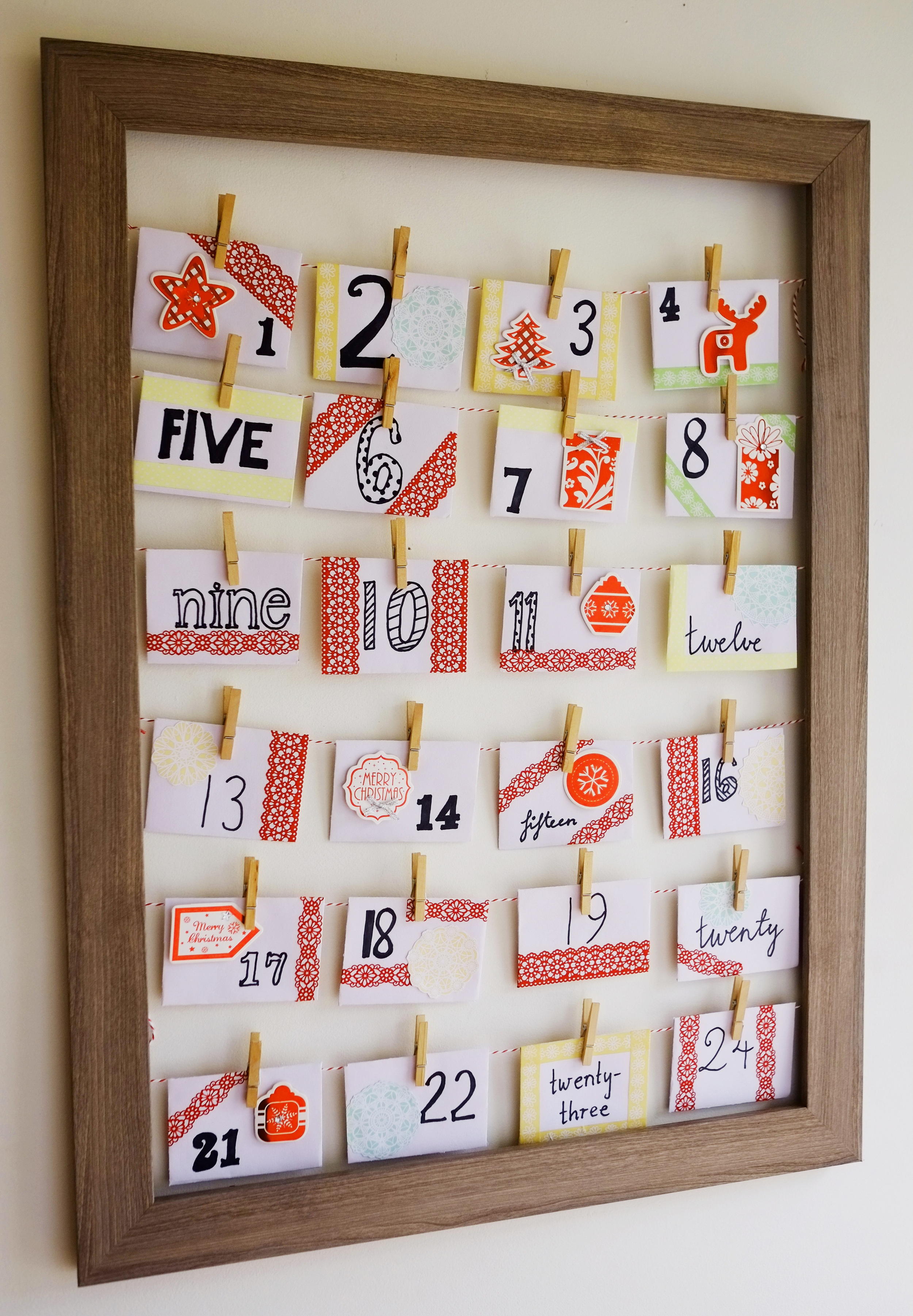 DIY Advent calendar with Christmas activities for the kids