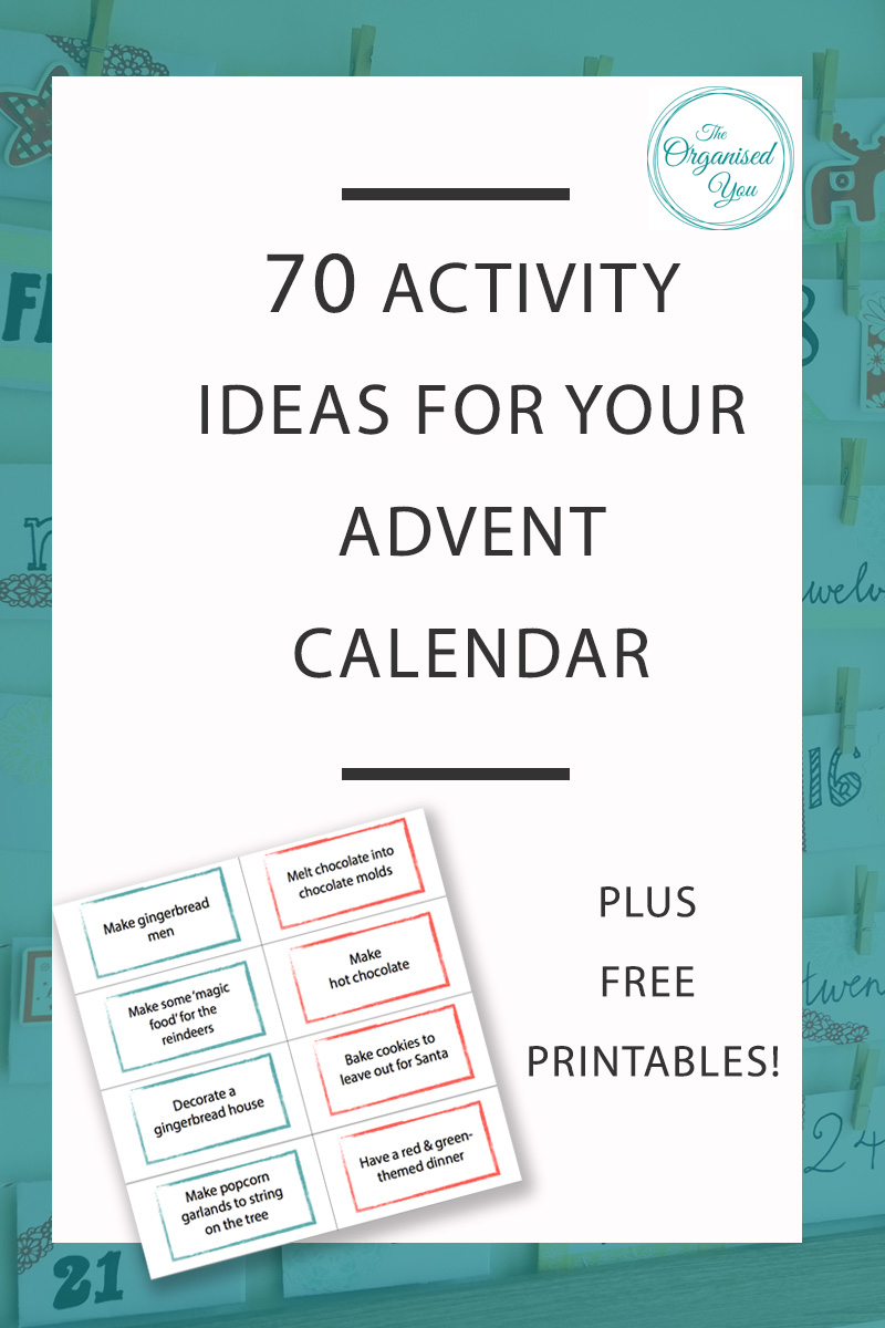 70 Christmas Activities for the Advent Calendar - do you like to do lots of fun Christmas activities with your kids in the lead-up to Christmas? Click through to grab your FREE download of 70 fun Christmas activities for the Advent Calendar, as well as a look at how I created my own DIY Advent Calendar using some simple envelopes and a picture frame!
