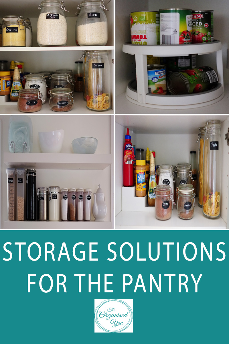 An organised pantry - is your pantry cluttered, disorganised or is it difficult to quickly and easily find what you're looking for? A few great pantry storage solutions will save you so much time and money as well as make cooking meals and preparing lunches so much easier. Click through to read how I organised our pantry with a few simple storage solutions!