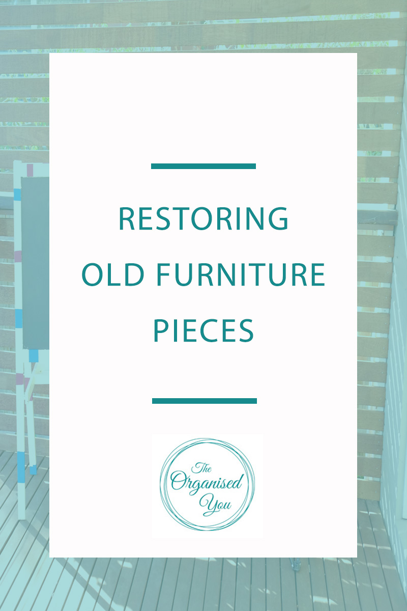 Restoring Old Furniture Pieces. Decluttering your home can often lead to wondering what to do with old, tatty pieces of furniture. You can breathe new life into old pieces by painting, sanding back, staining... the possibilities are endless! Click through to read how we restored an old blackboard to give it new life!