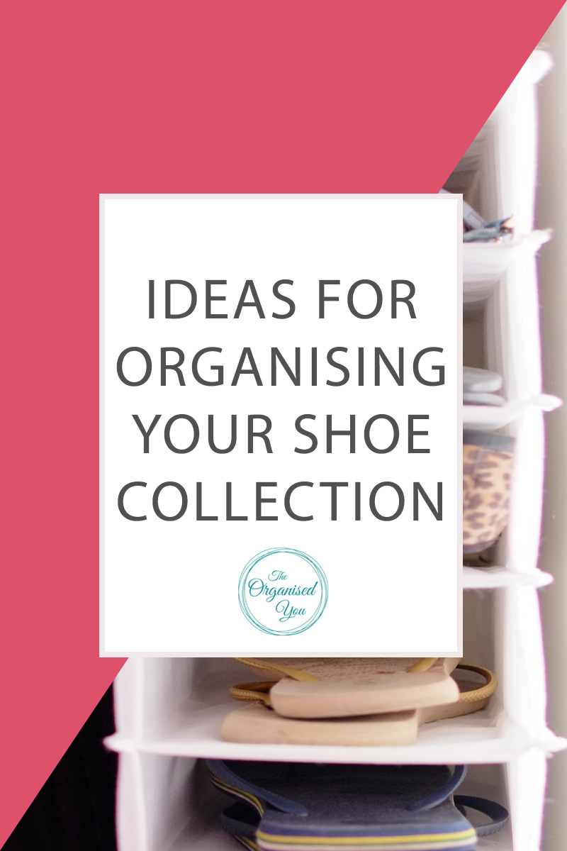 How to organise your shoe collection - there are heaps of great storage solutions for organising your shoe collection, including racks, shelf-organisers and boxes. Click through to read the full post on how we organise the shoes within our wardrobe