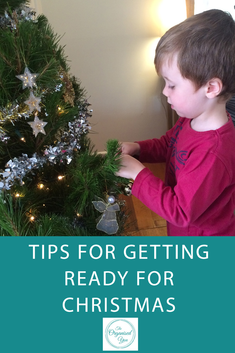 Tips for getting ready for Christmas - click through to read the full post on how to get ready for Christmas with tips on how to set a budget, create lists of gift recipients, find unusual gift ideas, and create your own cards at home.