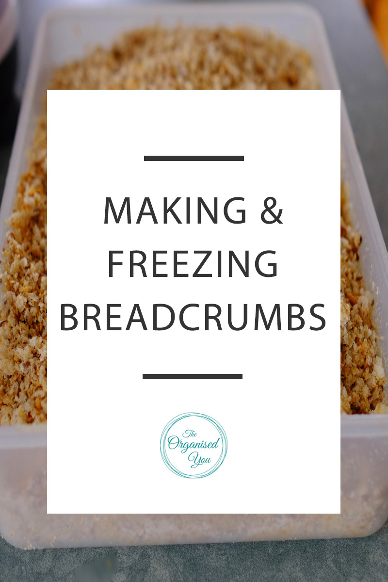 Making & Freezing Breadcrumbs - using up your unused bread crusts to make and freeze breadcrumbs is a fantastic money-saving technique, and is also super convenient as you will always have breadcrumbs on hand during cooking. No more need to pull out the food processor while you're in the middle of making a meal! Click through to read the full post on how we make and freeze breadcrumbs for cost-saving and convenience.