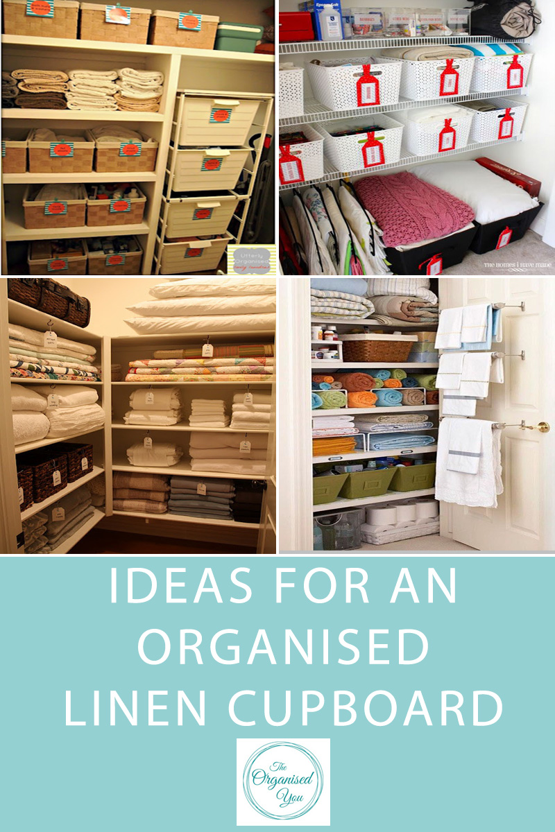 Ideas for an Organised Linen Cupboard - ready to be inspired to get your linen or storage cupboard organised? This post is a round-up of beautiful, organised linen cupboards to get you excited about getting yours in order. Click through to get motivated!