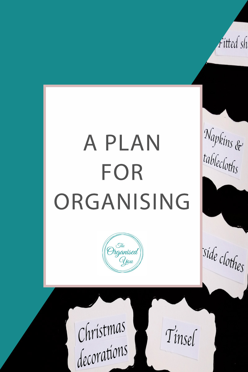 A Plan for Organising - it is imperative to have a plan before you start decluttering and organising a space in your home. This post is a step-by-step guide that shows you exactly how I plan out a space from start to finish. Click through for these actionable tips!