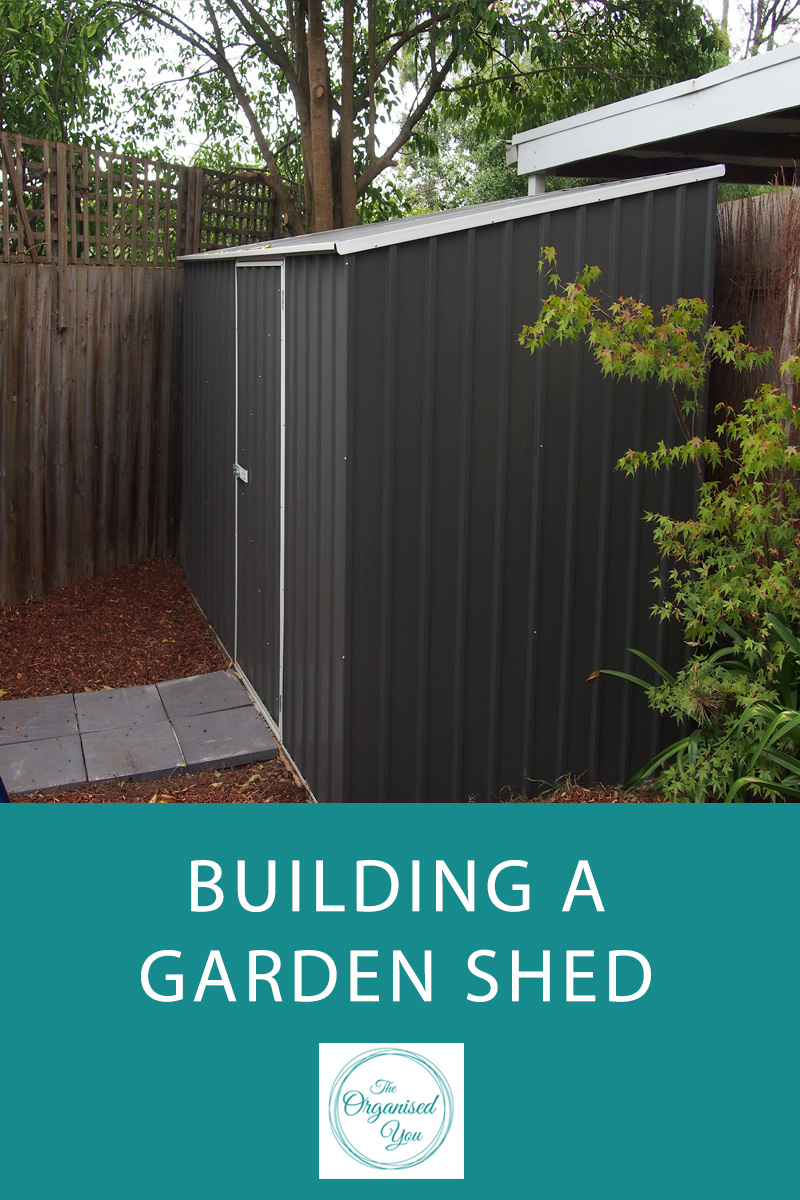 Building a Garden Shed - a garden shed is a great way to keep your gardening supplies and equipment separate from your garage. If you have the space in your home, they can be a fantastic way to stay on top of the 'outside stuff'. Click through for a step-by-step guide to how we built our garden shed!