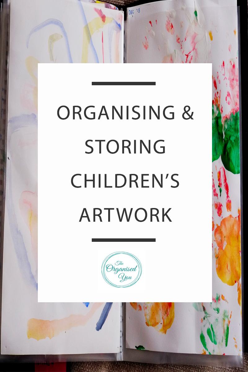 organising kids' artwork