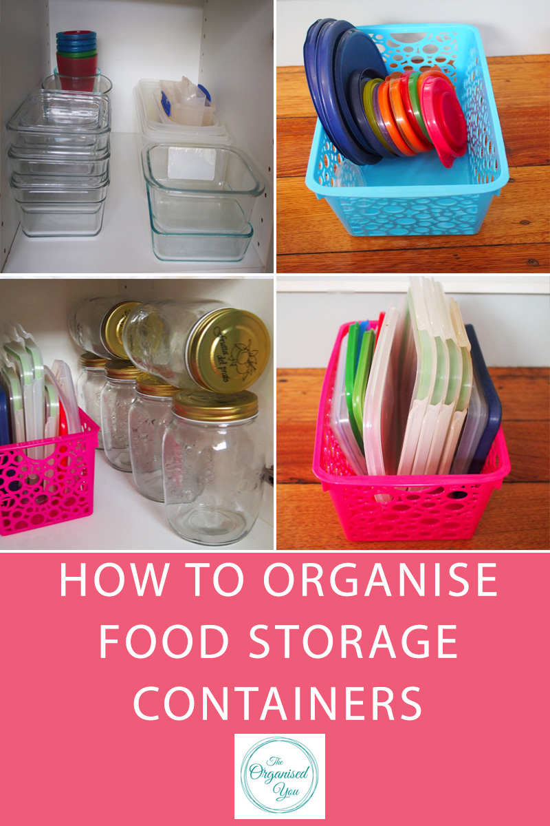 How to Organise Food Storage Containers - do you have drawers of cupboards overflowing with food containers? Mismatched lids or ones that no longer fit properly? Tatty plastic take-away containers that you never use? This post shows exactly how I organise our food storage containers in our kitchen so they're neat, organised and I can easily find what I'm looking for. Click through to read the full post!