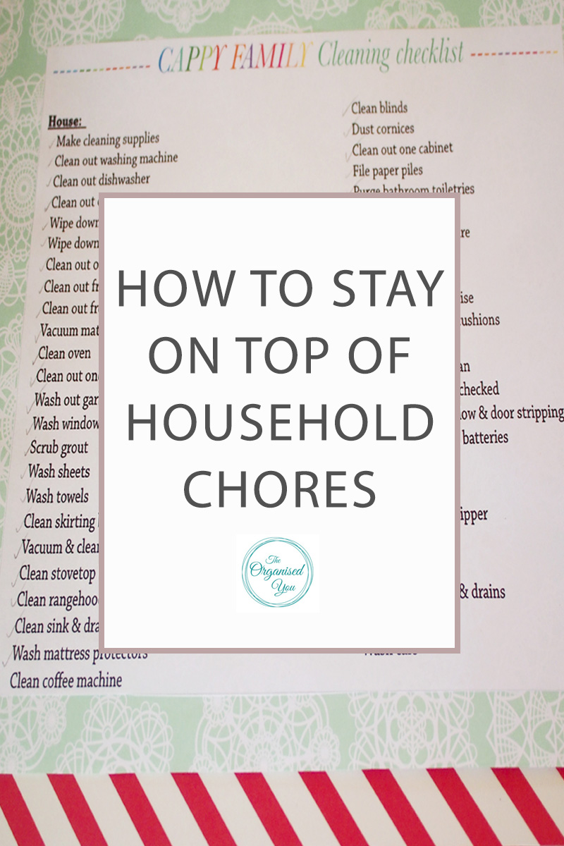 how to stay on top of household chores