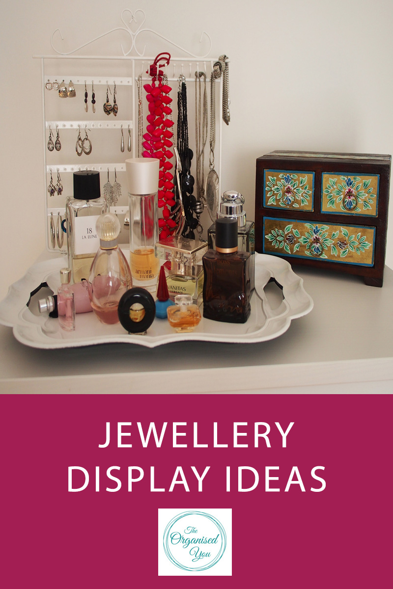 Jewellery Display Ideas - organising and storing your jewellery can be tricky if you're lacking storage space or have a really large collection, but it's important to do so that you can always find the jewellery you're wanting to wear as quickly and easily as possible! Click through to read some jewellery display ideas and inspiration!