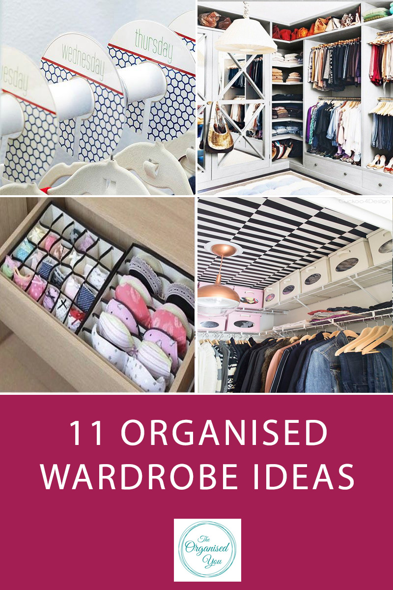 11 Organised Wardrobe Ideas {Inspiration} - is your wardrobe organised and orderly? Having your clothes neat, accessible and organised will help you start your day better and make your bedroom a more relaxing and peaceful place to be in. Click through for organised wardrobe inspiration!