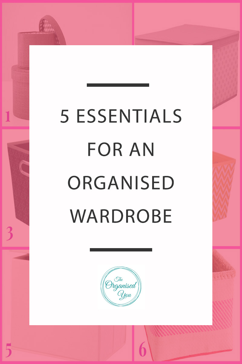 5 Essentials for an Organised Wardrobe - there are some products that are an absolute essential for keeping your wardrobe neat and organised. Click through to read the top 5 essentials for keeping your wardrobe enviably organised!