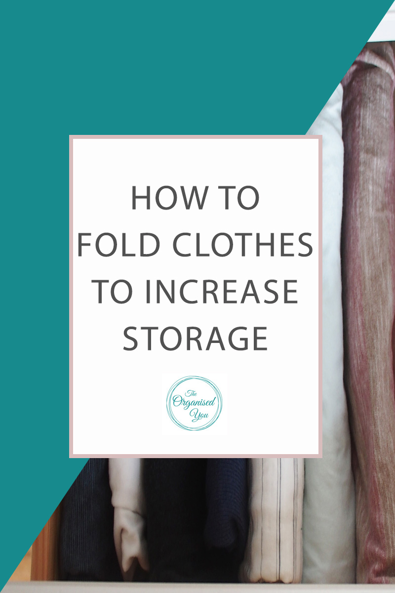 How to Fold Clothes to Increase Storage - folding clothes in specific ways can actually increase the amount of storage space you have in your drawers. This post shows how I 'file' my clothes, and gives step-by-step instructions for folding clothes to maximise storage space in your drawers. Click through for the full post!