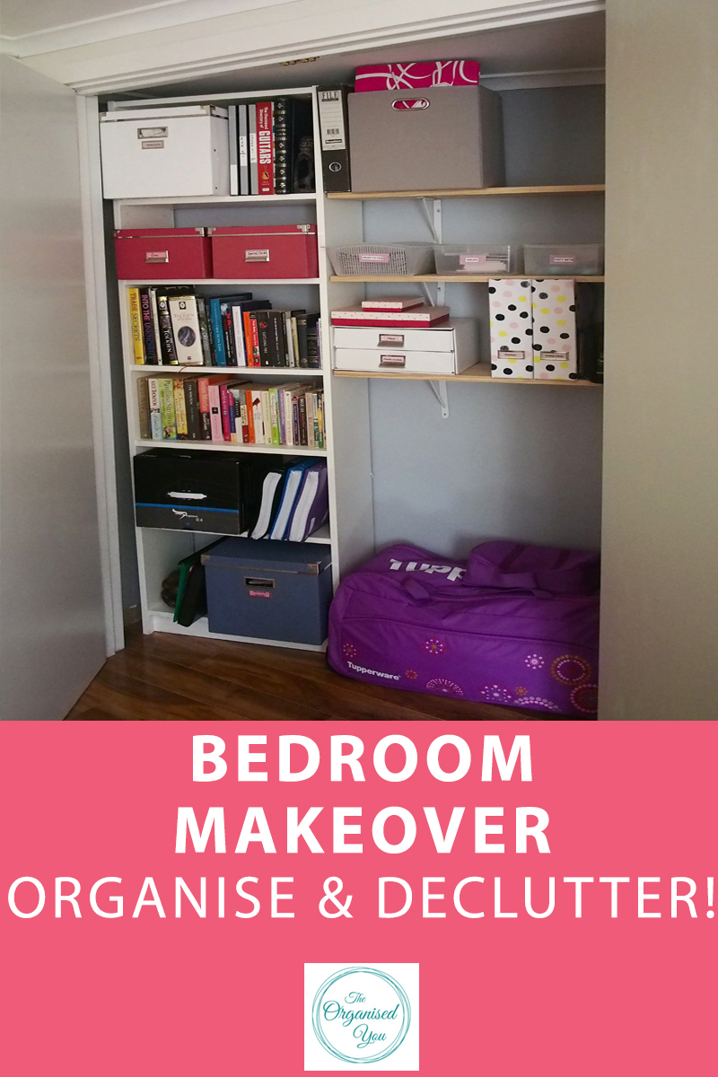 Bedroom Makeover: Organise & Declutter - doing a makeover is a fantastic time to declutter and organise your new space. Click through for the step-by-step process for decluttering and organising your things.