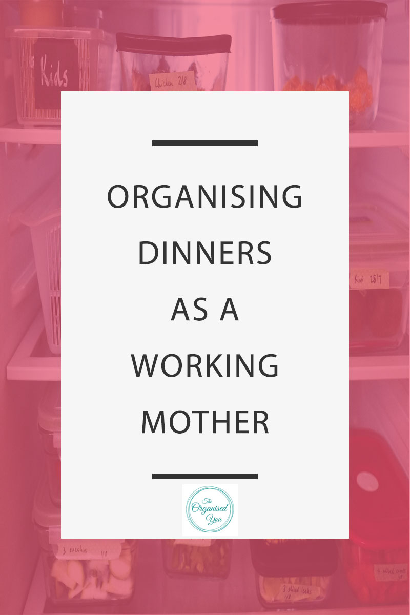 Organising Dinners as a Working Mother - as busy mums, time is precious, so anything we can do to save time and save our sanities when coming home from work, is a huge bonus! Click through to read how I save time on meal prep by doing a few simple things when returning home from the grocery shopping!