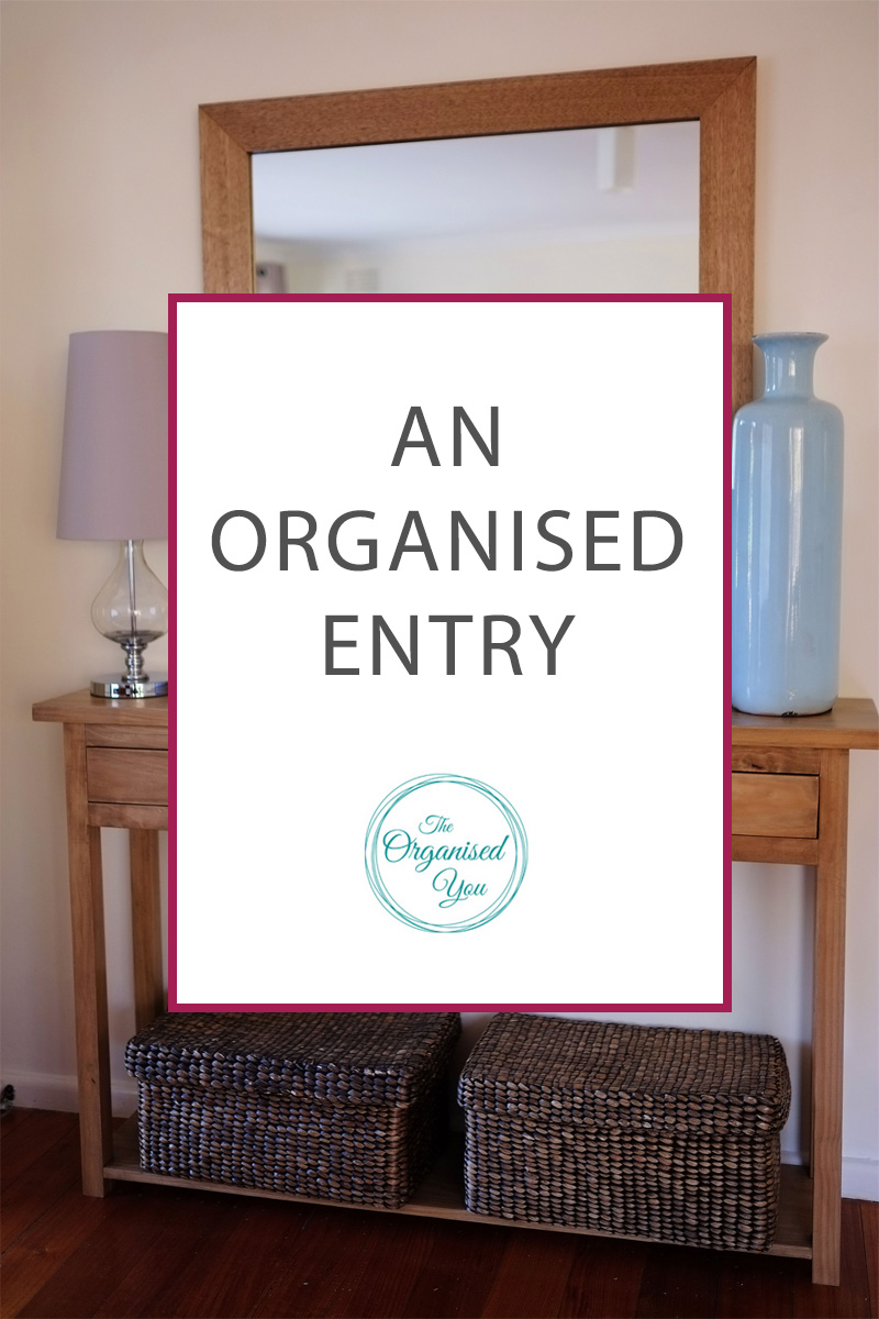 An Organised Entryway - having one organised 'drop-spot' in your home for all the daily essentials has so many benefits! It will save you time in the mornings so you can get out the door as quickly as possible, you'll be less likely to lose things as everything has it's own place, and it will prevent the 'dump piles' that often occur when family members walk through the door. Click through to see how we set this area up in our house to have an organised entry!