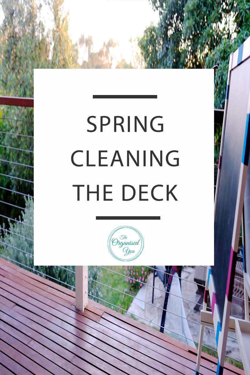 Spring cleaning the deck - as summer approaches, the exterior often needs as much work as the interior to make it an appealing place to spend time in. Click through to read how we spruced up our deck to make it a pleasant place to spend time with the family.