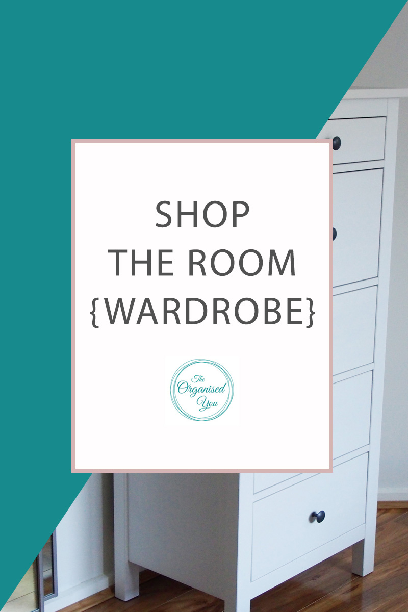 Shop the room {wardrobe} - having a few key products and systems set up in your wardrobe will help you to keep it organised and prevent clutter from building up. They also make sure that everything is super-easy to find! Click through to read about the products and systems we use to maintain an organised wardrobe!