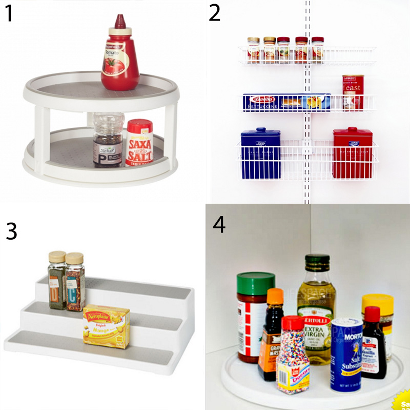 Storage for cans, jars and sauces - there are many options that will increase storage space in your pantry and allow you to easily access what you need, such as lazy Susan's, tiered shelves and back-of-the-door organisers