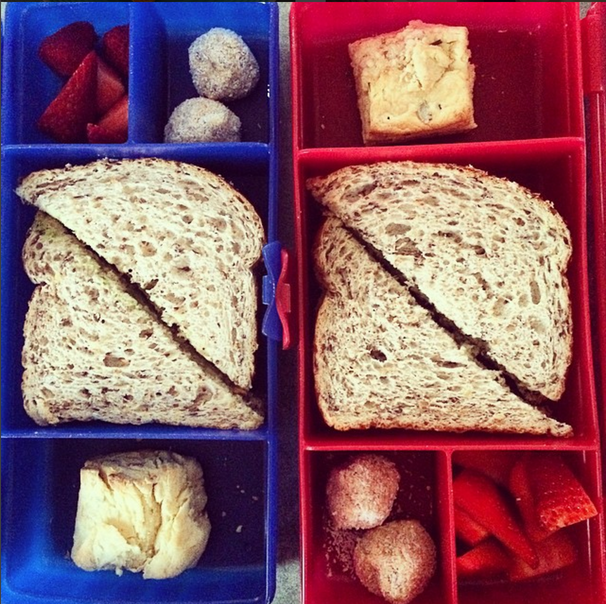 Lunchbox ideas - home-baked goods always add a bit of extra interest in a child's lunchbox!