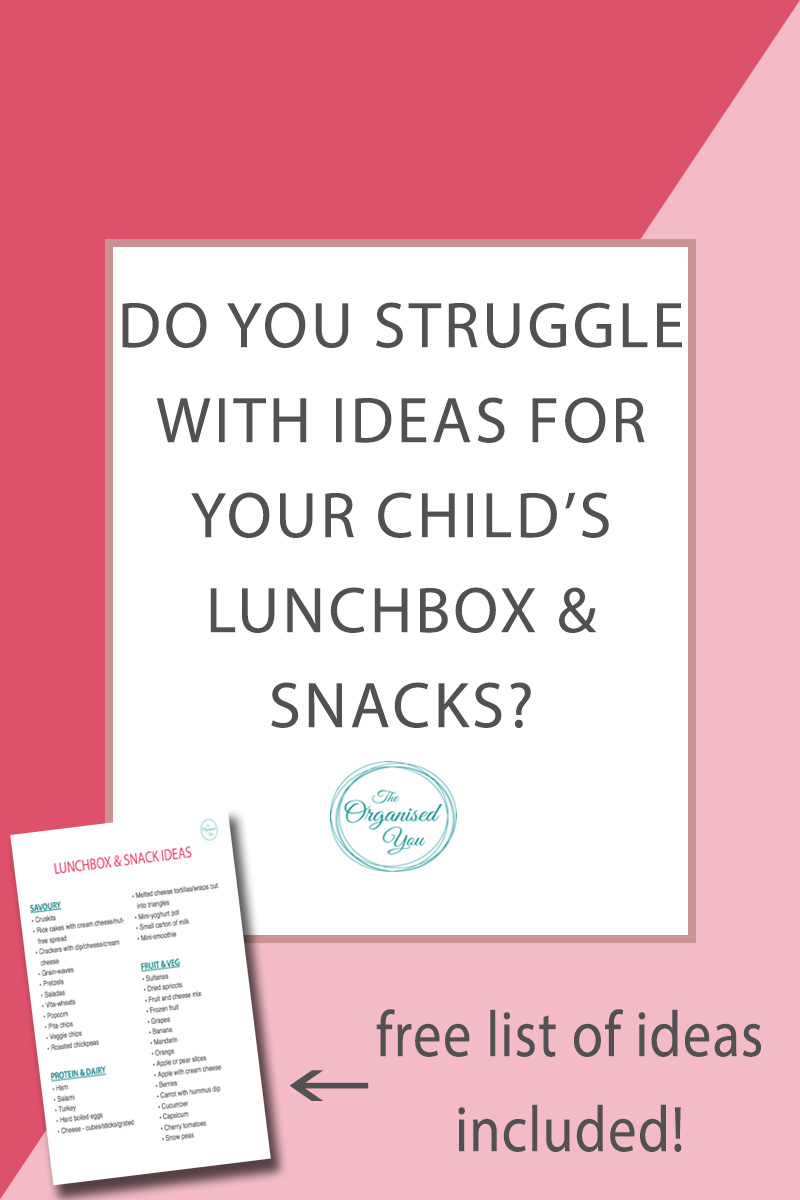 Do you always struggle for lunchbox ideas? - preparing the kids' lunch-boxes and snacks isn't usually a favourite activity for busy mums, and sometimes coming up with new and exciting ideas, that are still healthy and nutritious, can be a challenge. This post has a FREE download of lunchbox and snack ideas, the perfect list to print out and pin up inside your pantry so you've got a plan for what to prepare. Click through to grab your copy!