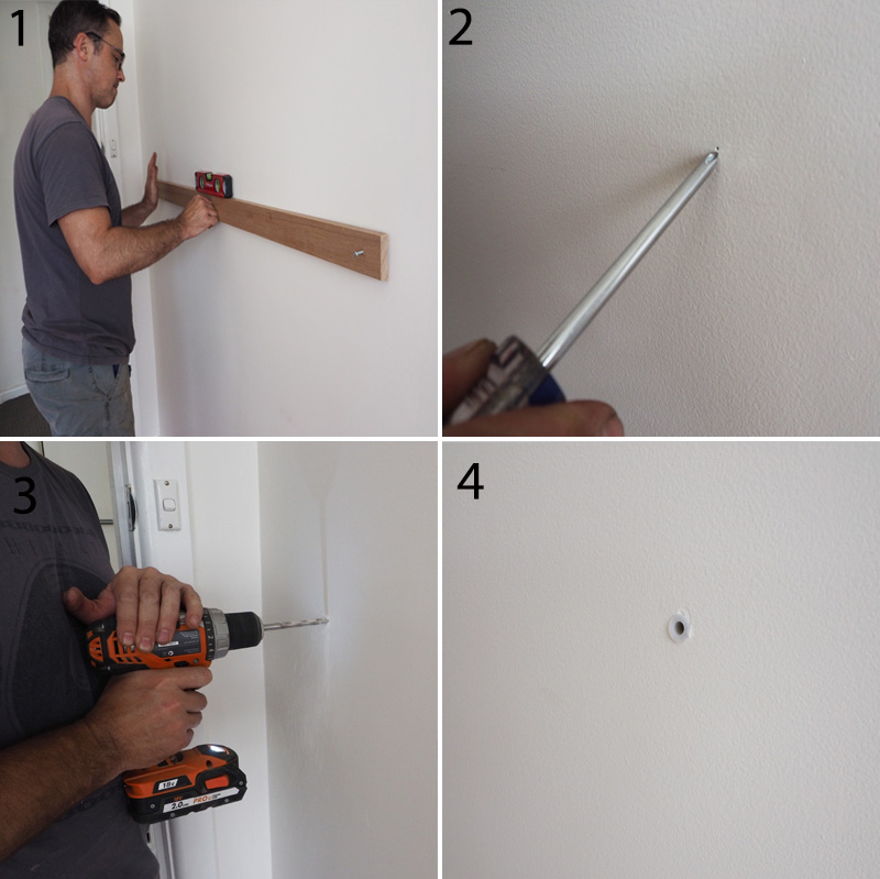 The 4-step process for attaching wood panel to the wall